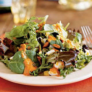 Catalonian Salad with Greens and Romesco Vinaigrette (Xato)