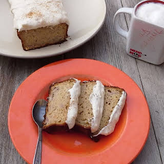 Banana Bread With Chia Seeds And Ginger Frosting.