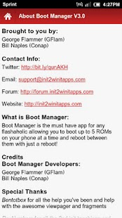 Boot Manager Pro- screenshot thumbnail