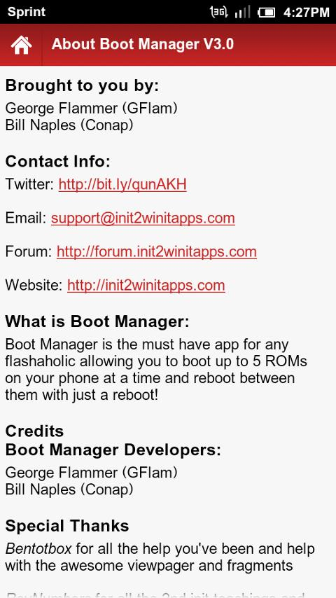 Boot Manager Pro- screenshot