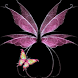 Pink Glow Butterfly Live Wallp