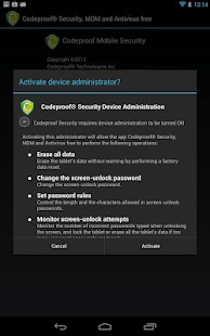 Codeproof MDM & Antivirus Free - screenshot thumbnail