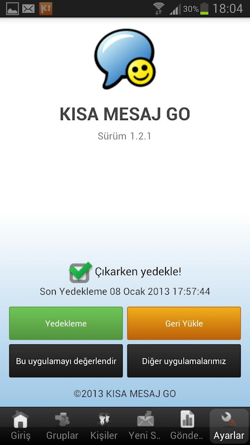 KISA MESAJ GO - screenshot