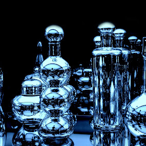 Reflecting by Dawn Marie - Artistic Objects Glass ( abstract, mirror, patterns, art, glass, bottles, nikon, reflecting, shapes )
