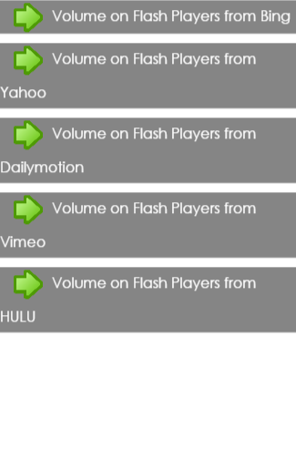 Volume on Flash Players