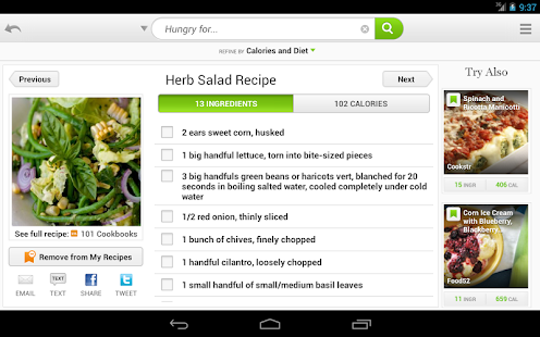 Recipes & Nutrition - screenshot thumbnail