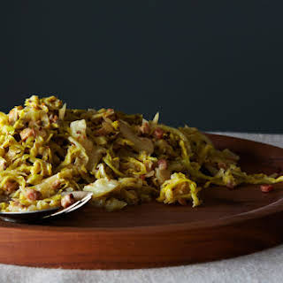 Creamy Cabbage with Pancetta and Caraway Seeds.