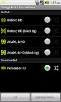 Screenshot of BN Pro Percent-b HD Text