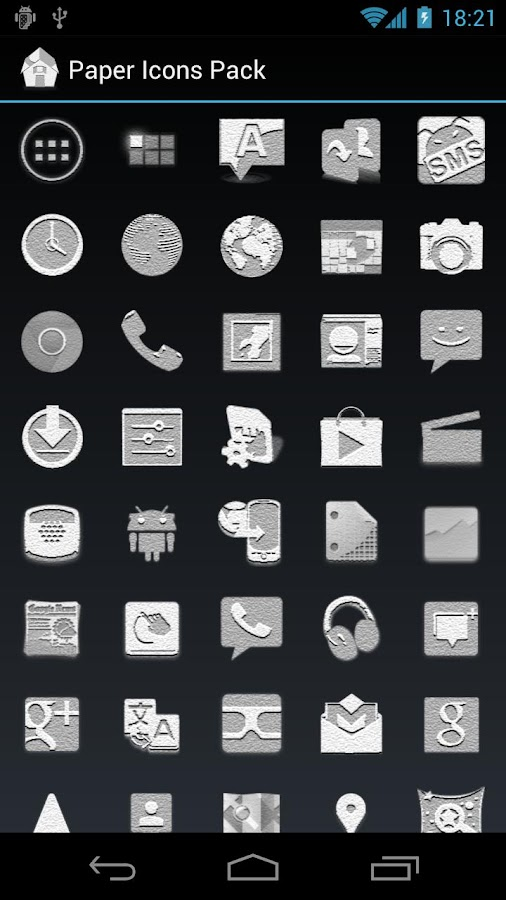 Paper Icons Pack - ADW - GO - screenshot