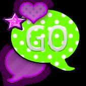GO SMS THEME/NeonPolkaDots