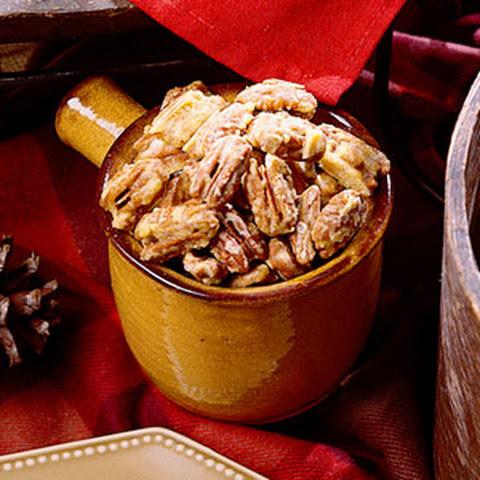Bourbon Old Fashioned Glazed Pecans Recipe — Dishmaps