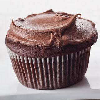 Choco-Sour Cream Cupcakes