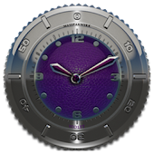 Clock Widget Purple Elephant