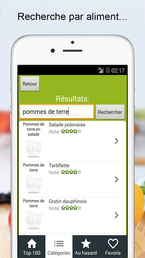 Recettes cuisine et cocktails- screenshot