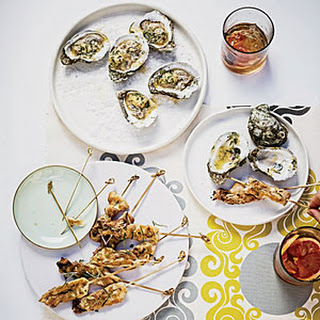 Grilled Oysters with Tabasco-Leek Butter