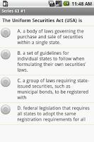 Screenshot of FINRA Series 63  Exam Prep