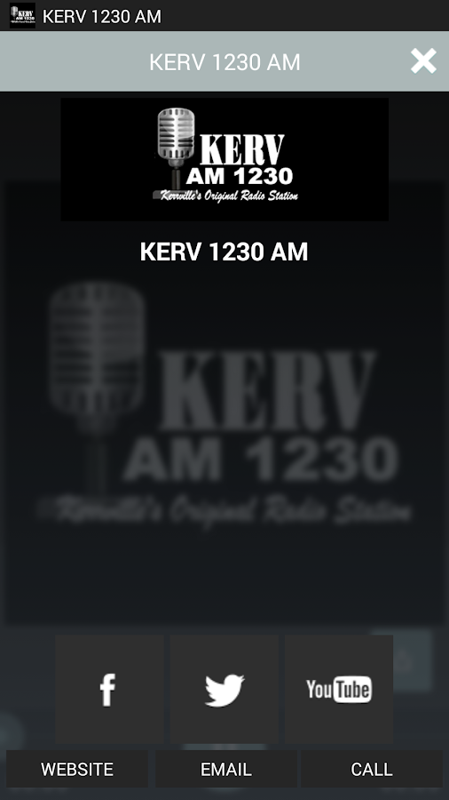 KERV 1230 AM- screenshot