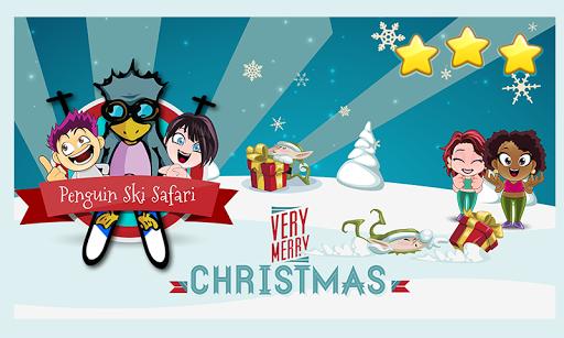 企鹅滑雪赛圣诞节游戏