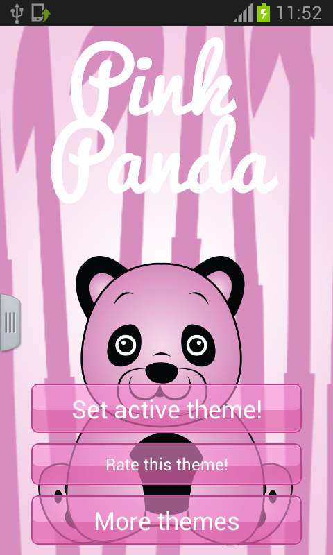 Pink Panda Keyboard - screenshot