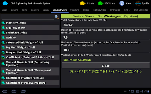 Civil Engineering Pack Tablet screenshot 9