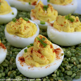 Egg-cellent Honey Dijon Mustard Deviled Eggs.