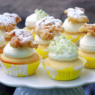 Elderflower Cupcakes with Mascarpone Frosting.