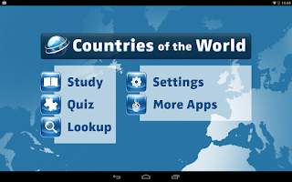 Screenshot of Countries of the World