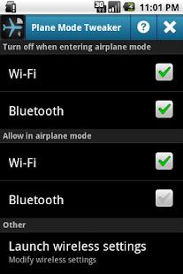 0 Plane Mode Tweaker App screenshot