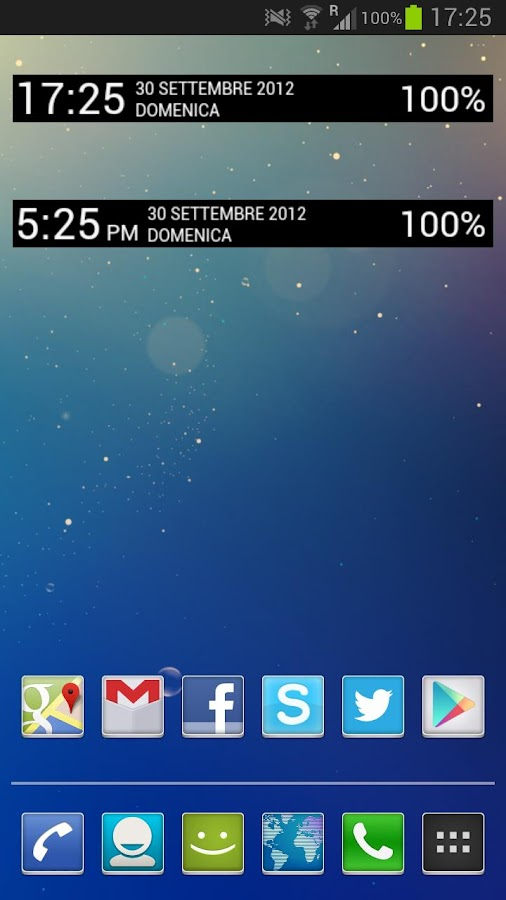 Jelly Bean Clock Widget Donate- screenshot