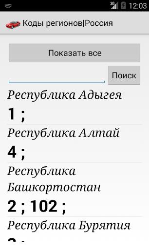 Area Codes Russian