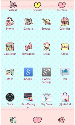 Cute Theme-Minty Ribbon- - screenshot