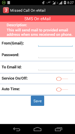 【免費生產應用App】Missed call & SMS on eMail-APP點子
