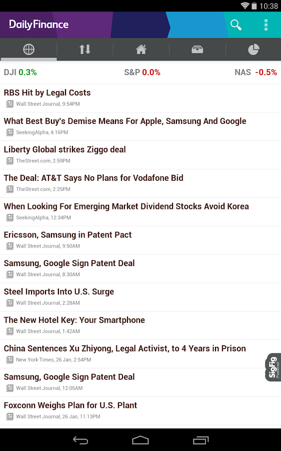 DailyFinance – Stocks & News - screenshot