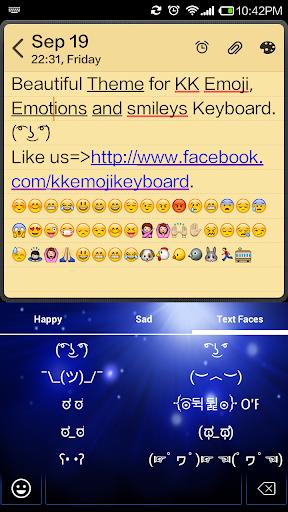 【免費個人化App】Cool Blue Emoji Keyboard-APP點子