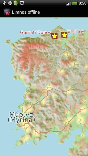 Lemnos offline map