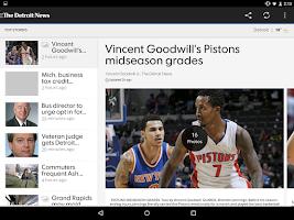 Screenshot of The Detroit News