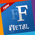 Metal free fonts 4 Samsung icon