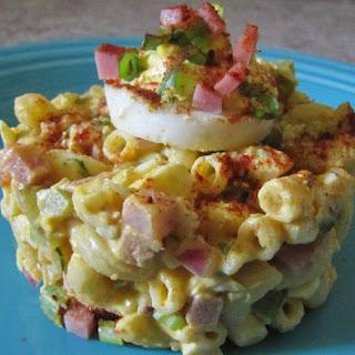 Deviled Egg Macaroni Pasta Salad.