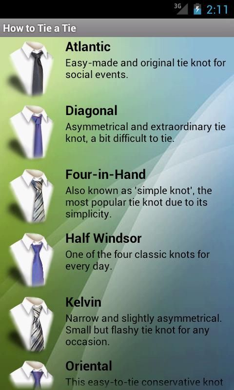How to Tie a Tie - screenshot