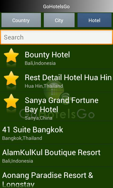 GoHotelsGo Asia Hotel Deals - screenshot