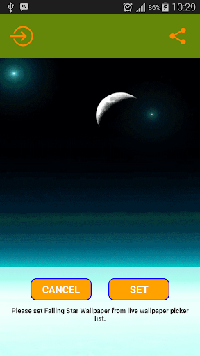 Bintang Jatuh Live Wallpaper
