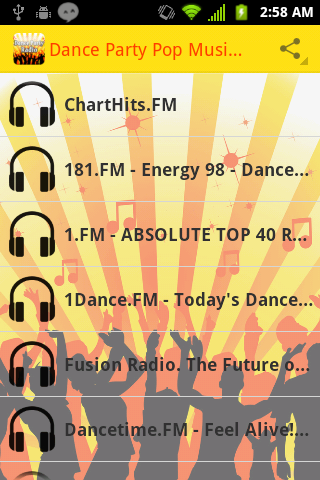 Dance Party Pop Music Radio