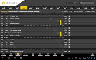Screenshot of Programm-Manager Tablet