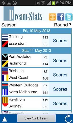 Dream-Stats Live AFL Scores