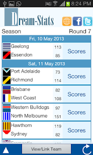 Dream-Stats Live AFL Scores- screenshot thumbnail