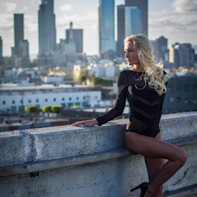 Higher Ground by Ryan Smiley - People Fashion ( model, southern california, america, california, beautiful, rksmiley, rooftop, usa, blonde, girl, gorgeous, la, los angeles, heels )