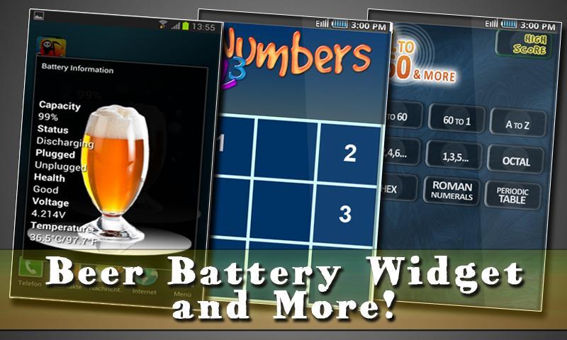 Free Beer Battery Widget - screenshot
