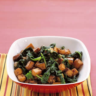 Sauteed Sweet Potatoes and Spinach.