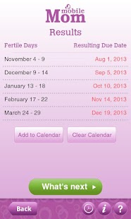 Ovulation Calendar & Fertility- screenshot thumbnail