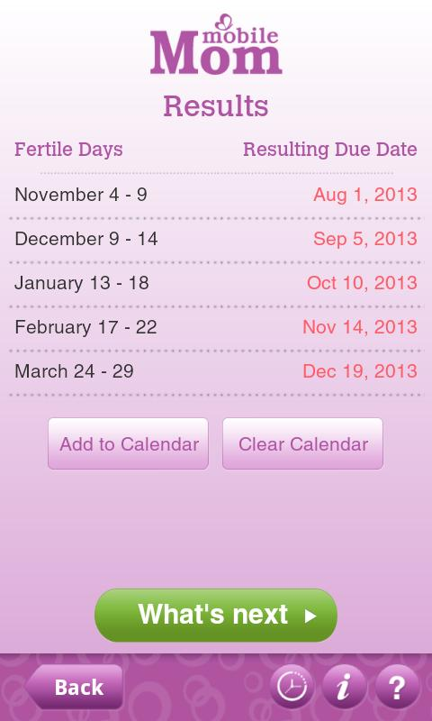 Ovulation Calendar & Fertility - screenshot